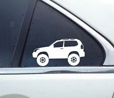 2X Lifted 4x4 stickers - for Toyota Land Cruiser Prado (3-DOOR) J120 | 120