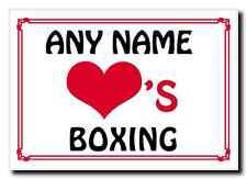 Love Heart Boxing Personalised Jumbo Magnet