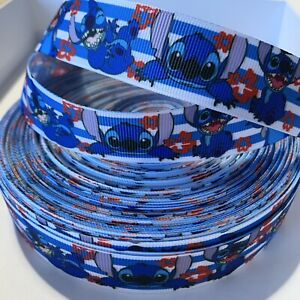 YARD DISNEY STITCH STRIPE GROSGRAIN RIBBON CHILDRENS CHARACTER