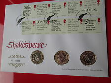 Mint Condition 2016 Shakespeare 400th Ann. BU 3x  £2 Pound Coin Set Cover PNC