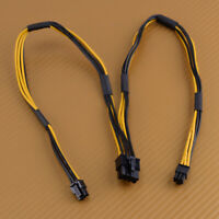 of 18 AWG Dual Mini 6 to 8 Pin Male PCI-E Power Cable fit for Mac Pro Video Card