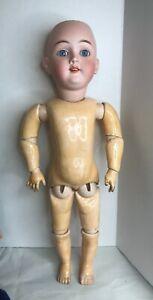 "Max Handwerck 283 Antique German Bisque Socket Head Doll Compo Body 19"""