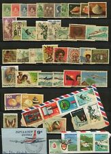 PAPUA NEW GUINEA LOT / COLLECTION OF 48 STAMPS PLANES SEA SHELLS BUTTERFLY SHIP
