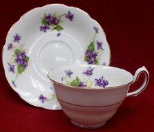 SPENCER STEVENSON china SPE26 Violets pattern Cup & Saucer