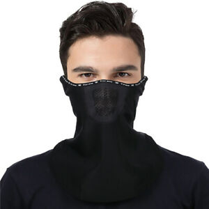 Winter Neck Warmer Bandana Mask Tubular Scarf Fleece Half Face Cover Thermal