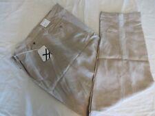 Steve Harvey Linen Blend Cuffed Pants Khaki Size 44 x 30 New With Tags  #7542