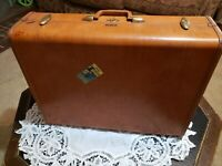 Vintage Brown Samsonite Shwayder BROS. Hard Shell Train Suitcase Luggage Case