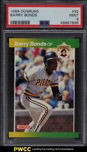 1989 Donruss Barry Bonds #92 PSA 9 MINT