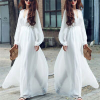 Full Length Skirts Long-Sleeved Bohemian Literary Dress Vintage Style Hot SellFA