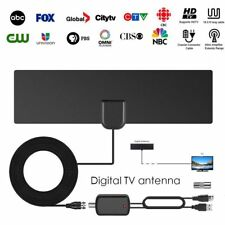 80 Miles Range Indoor Digital HD TV Antenna Signal Amplifier Booster TV Receiver