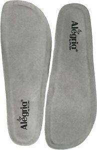Alegria Replacement Insole Grey 41 Latex sole memory foam (US Women's 10.5-11)