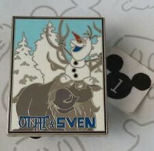 Olaf & Sven Frozen Snowman Sitting on Reindeer Starter Disney Pin Buy 2 Save $