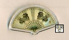 Chinese Lunar Calendar Fan Shaped 24K Gold-plated Animal Medallion (DOG)