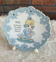 Precious Moments 1995 Porcelain Mini Plate with Easel He Covers Earth His Beauty