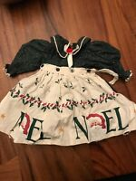 """Doll Christmas Apron Dress (Fits an American Girl) - Great Condition - """"NOEL"""""""