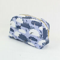 STRIPED CLOUDS AND SEAGULL PRINT LARGE WASH BAG TOILETRY BAG MAKE UP BAG POUCH