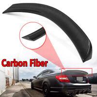 V Style Carbon Fiber Trunk Spoiler For Mercedes W204 C250 C300 C63 Coupe 2011-15
