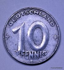 ALLEMAGNE .DEMOCRATIC REPUBLIC.10 PFENNIG.1950.E. ALUMINIUM 21 MM AC334