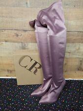 Charlotte Russe AKIRA-215 MAUVE SATIN Women's Boots Shoes Size 8 NWB