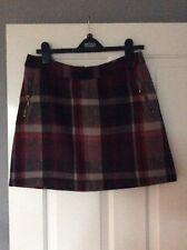 Ladies Size 12 Plum Checked Wool Skirt George