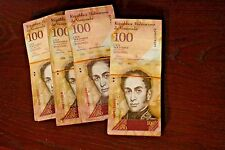 Collectible (Full Bundle 100 PCS,) Venezuela 100 Bolivars P-93 - Circulated