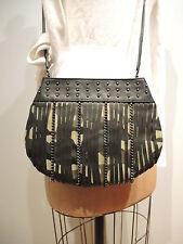 Elle Nicole Studded Fringe Faux Leather Cross Body Messenger Purse was $159