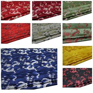 Faux Silk Brocade (Big Chinese Dragon)Jacquard Damask Kimono Fabric Material*BC6