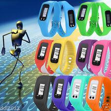 LCD Digital Pedometer Calorie Counter Run Step Walking Distance Bracelet Watch