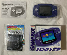 Nintendo GAMEBOY ADVANCE 32 BIT - Wide Color Screen, Indigo With Box