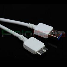 Cavo USB 3.0 cavetto dati carica per Samsung Galaxy S5 G900F Note 3 N9005 bianco