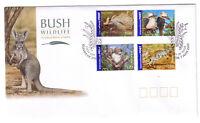 "2005 FDC. Australia. Bush Wildlife. International Stamps. PictPMK ""OLINDA"""