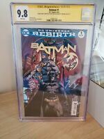 Batman rebirth 1 cgc 9.8 Signed And Sketch By David Finch And Signed By Tom King