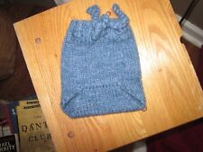 Baby Diaper Cover Woolies Soakers Wool Hand Knit Blue Small Prewashed Lanolized