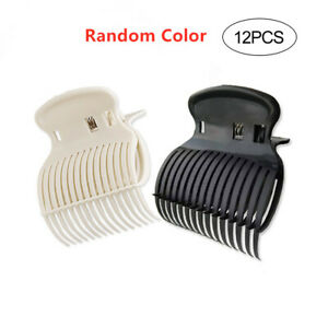 12Pcs Plastic Hot Roller Clips Hair Curler Claw Clamps for Women Styling Tool