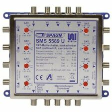 Spaun SMS 5589 U 2x Satellite System Cascade Multi-switch for 4x SAT If Signals