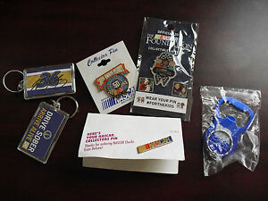 Lot of NASCAR Pins Earnhardt Bottle Opener #36 Keychains NIP LOOK
