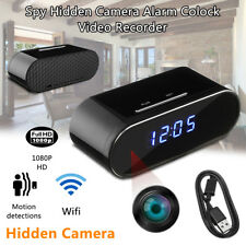 WiFi Motion Detect Wireless 1080P Hidden Alarm Clock Camera Security Spy Cam DVR