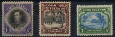 Cook Islands - SG 127-129 - 1938 - Definitive Set of 3 - Mounted Mint