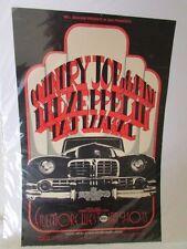 1969 Bill Graham Presents Country Joe & the Fish Led Zeppelin Taj Mahal Poster