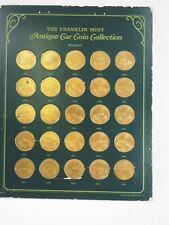 The Franklin Mint 1969 Antique Car Coin Collection 25 coins series 2