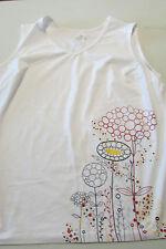 Womens Jockey  Stretch white flower sleeveless tank shirt sz 2xl