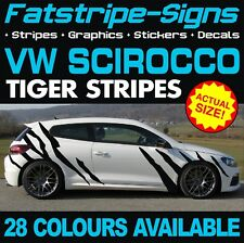 VW SCIROCCO TIGER STRIPES GRAPHICS STICKERS DECALS VOLKSWAGEN 1.4 2.0 R D TDi