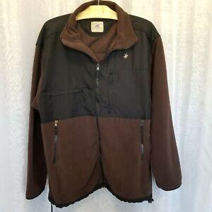 Beverly Hills Polo Club Sz L Full Zip Fleece Jacket Softshell Black/Brown