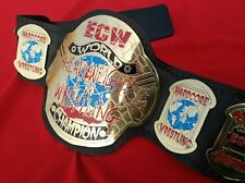ECW World Heavyweight Championship Wrestling Belt Leather Replica Brass Metal