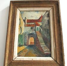 Tableau ancien peinture huile Adolphe Cabon