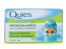 QUIES Adult Hearing protection swimming 3 pairs