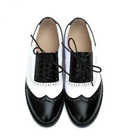 19 Colors Womens Lady Lace Up Leather Wing Tip Pointy Toe Dress Oxfords Shoes