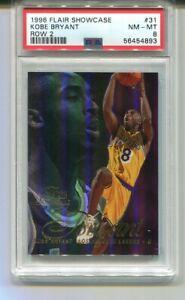 1996-97 Flair Showcase KOBE BRYANT RC Rookie Row 2 Lakers #31 PSA 8
