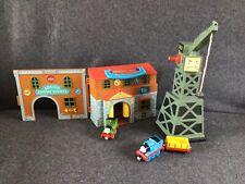 Thomas Take N Play Cranky Engine Works Bundle with Trains