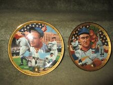 Vintage Royal Doulton Lou Gehrig & Ty Cobb Collector Plates by Auckland 1995